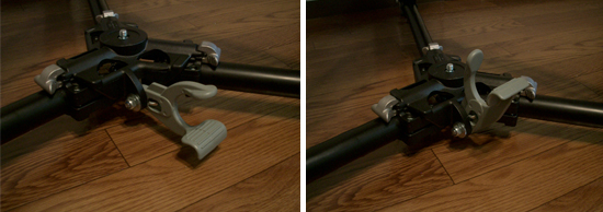 Manfrotto Dolly 181B のロックレバー